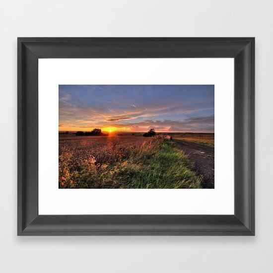 Tamworth Sunset Framed Art Print