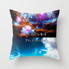 This is my limit this is yours Throw Pillow