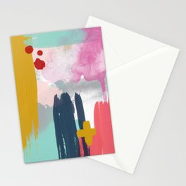 Abstract Brush Strokes Stationery Cards