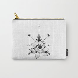 Lotus Crescent Carry-All Pouch