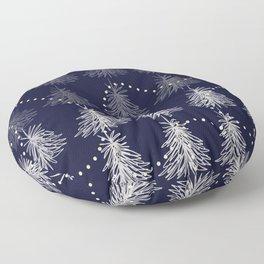 Fading Trees blu Floor Pillow