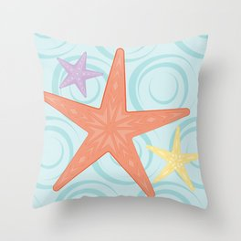 Shock Cousteau Starfish Throw Pillow