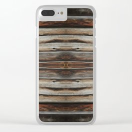 wood 2 Clear iPhone Case