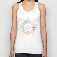 supernatural Tank Tops featuring Supernatural watercolours by Dan Lebrun
