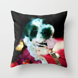 Happy Hound Throw Pillow
