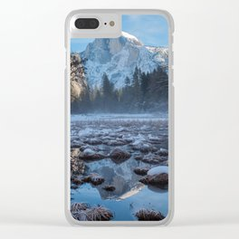Half Dome Reflections Clear iPhone Case