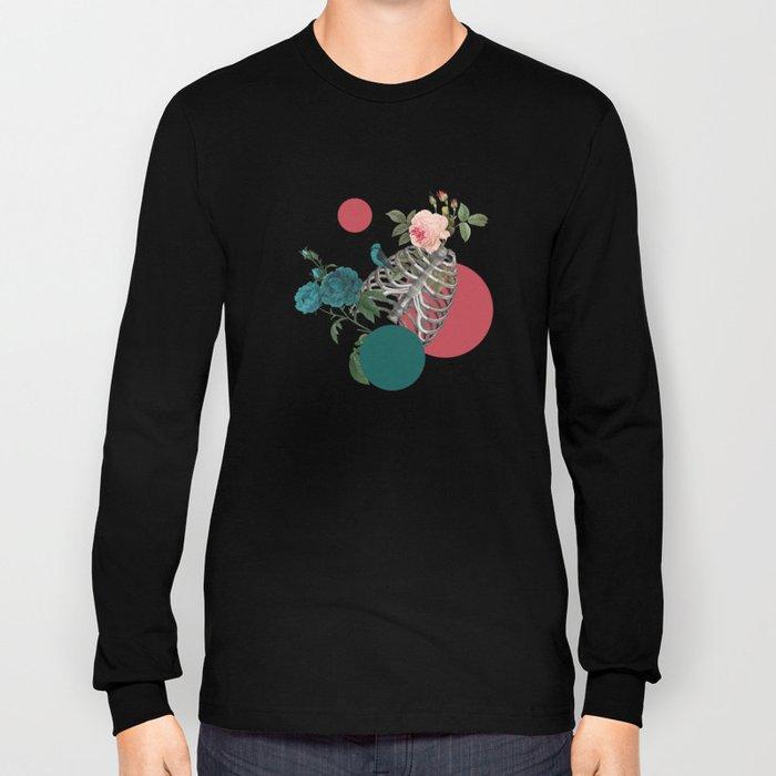 Skull Rose and Polka Dot Long Sleeve T-shirt