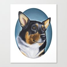 Tri Color Corgi Canvas Print