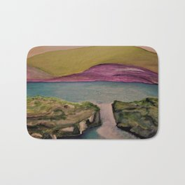 Purplegreen Mountain Bath Mat