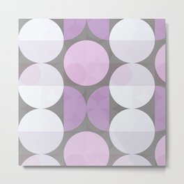 pink grey circular pattern Metal Print