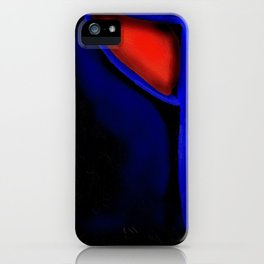Abstraction in Lapis and Red iPhone Case