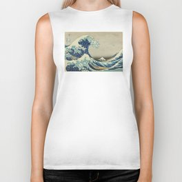 Great Wave Off Kanagawa (Kanagawa oki nami-ura or 神奈川沖浪裏) Biker Tank