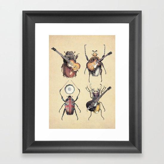 Meet the Beetles Framed Art Print