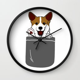 pocket dog Wall Clock