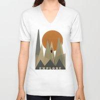 explore V-neck T-shirts featuring Explore by bri.buckley