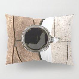 Artistic Cold Brew Shot 2 // Wood Steel & Stone Caffeine Coffee Shop Barista Wall Hanging Photograph Pillow Sham