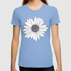 Daisy Boarder Mint LARGE Womens Fitted Tee Tri-Blue