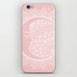 Mandala Moon Pink iPhone Skin
