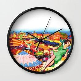 Classic Vintage Amusement Park Poster Wall Clock