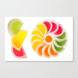 multicolored chewy gumdrops sweets Canvas Print