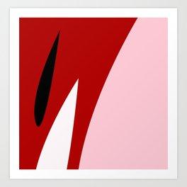 Abstract Flower Red #red #pink #artdeco #fresh #spring #minimal #art #design #kirovair #buyart #deco Art Print