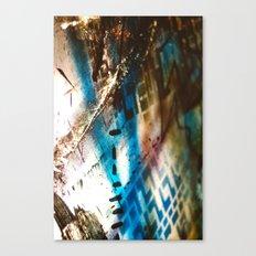 Retrollage 9.. Canvas Print