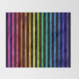 BLACK + RAINBOW Throw Blanket