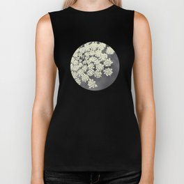 Black and White Queen Annes Lace Biker Tank