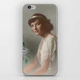 Tatiana Nikolaevna -1914 formal portrait colorized iPhone Skin