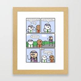 Antics #363 - one of us Framed Art Print