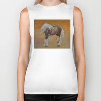 pony Biker Tanks featuring Gypsy Pony by Michael Creese