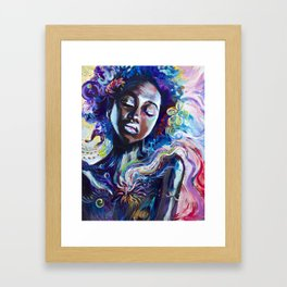 CREATED WITH INTENTION Framed Art Print