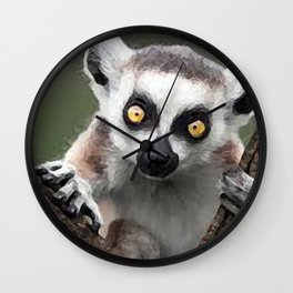 painting of lemur  Wall Clock