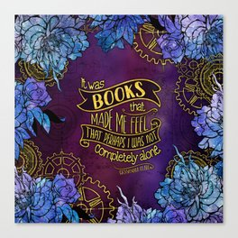 CP - Books Made Me Feel Not Alone (Purple) Canvas Print