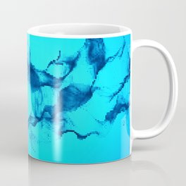 Blue Halftone Waves Coffee Mug
