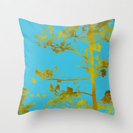 dreaming of japan: teal + gold Throw Pillow