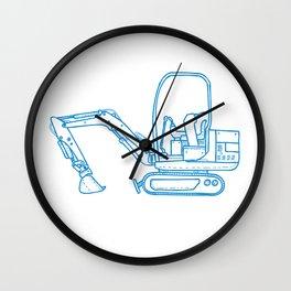 Mechanical Digger Mono Line Wall Clock