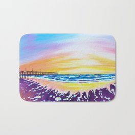 sunrise at rodanthe pier Bath Mat