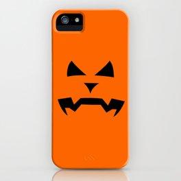 """Kerouac"" Jack O'Lantern - Halloween, Pumpkin, Orange, Black iPhone Case"