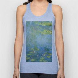 1906-Claude Monet-Waterlilies-73 x 92 Unisex Tank Top