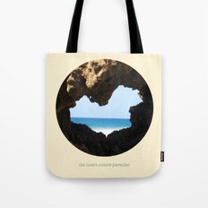The Heart Enters Paradise Tote Bag