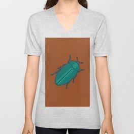 Spotted Jade Beetle Unisex V-Neck
