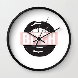 Bitch mouth Wall Clock