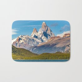 Lake and Andes Mountains, Patagonia - Argentina Bath Mat