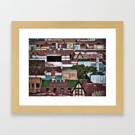 Roofs of Inwood Framed Art Print
