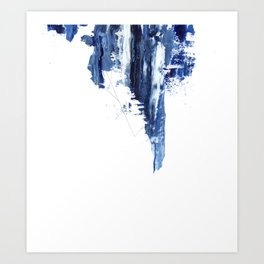 Blue abstract nr1 Art Print