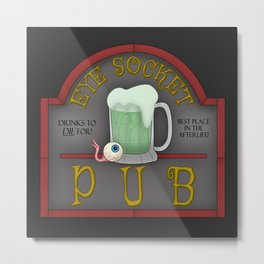 Eye Socket Pub Metal Print
