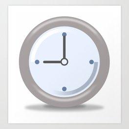 Clock Nine Art Print