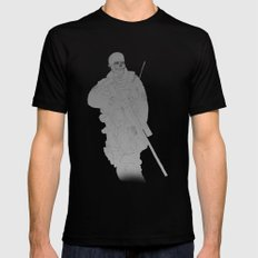 Zombie Sniped Black MEDIUM Mens Fitted Tee