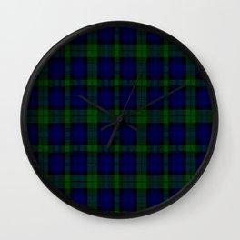 "CAMPBELL CLAN  ""BLACK WATCH"" SCOTTISH  TARTAN DESIGN Wall Clock"